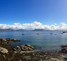 View from Skye - panorama  by Felinicious