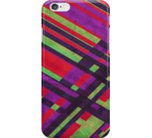 80's Plaid Green and Purple iPhone Case/Skin