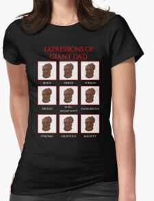 Expressions of Giant Dad Womens Fitted T-Shirt