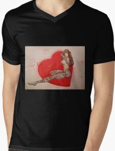 tattoo girl looking for love Mens V-Neck T-Shirt