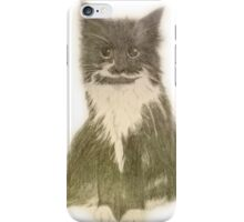 Black and white fluffy cat iPhone Case/Skin