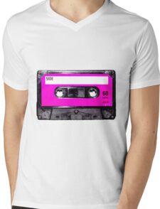 Classic Pink Label Cassette Mens V-Neck T-Shirt