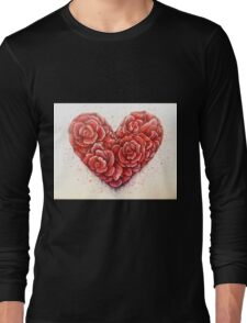 rose of hearts Long Sleeve T-Shirt