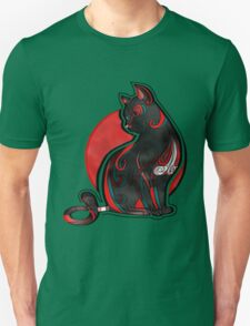 Artistic Abstract Black Cat with 3D effect T-Shirt