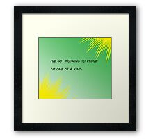 Young Justice Artemis quote Framed Print