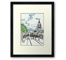 One Sunny Day at the Farmers Market Framed Print