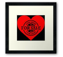 Heart for Sale Black version Framed Print