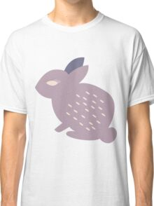 Rabbits and flowers 005 Classic T-Shirt