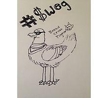Pigeon #Sweg Photographic Print