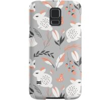Rabbits and flowers 007 Samsung Galaxy Case/Skin