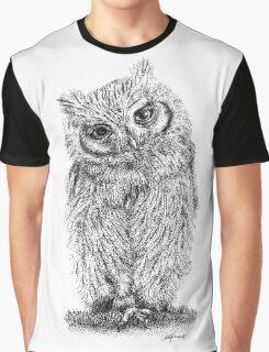 Stippled Screech Owl Graphic T-Shirt