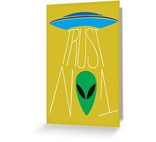 Trust No One - The X-Files Greeting Card