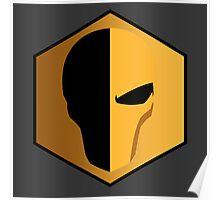Deathstroke Helmet Emblem Poster