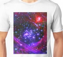 The Arches star cluster deep inside the hub of our Milky Way Galaxy. Unisex T-Shirt