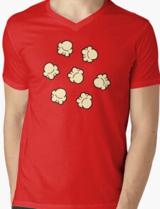 Popcorn Pattern Mens V-Neck T-Shirt