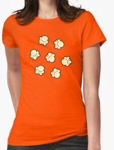 Popcorn Pattern Womens Fitted T-Shirt