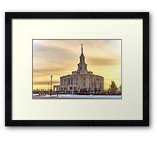 Payson Utah LDS Temple Framed Print