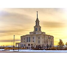 Payson Utah LDS Temple Photographic Print