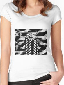 Isometric Skyscraper Women's Fitted Scoop T-Shirt