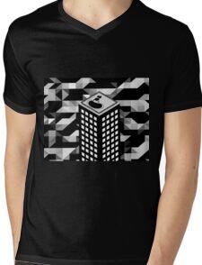 Isometric Skyscraper Mens V-Neck T-Shirt