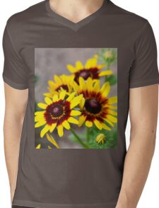 Red and Yellow Black Eyed Susan 1 Mens V-Neck T-Shirt