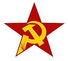 hammer and sickle in the starr field by SofiaYoushi