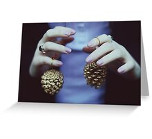 Gold pine cones Greeting Card