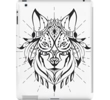 Ethnic Wolf iPad Case/Skin