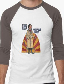 Pine Leaf/Woman Chief Men's Baseball ¾ T-Shirt