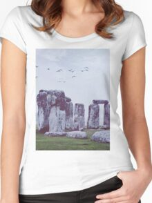 Stonehenge Women's Fitted Scoop T-Shirt