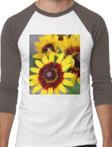 Red and Yellow Black Eyed Susan 2 Men's Baseball ¾ T-Shirt