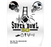 Super Bowl 50 design Poster