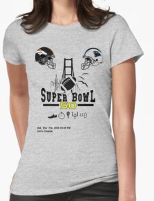 Super Bowl 50 design Womens Fitted T-Shirt