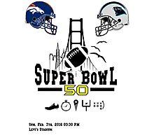 Super Bowl 50 design Photographic Print