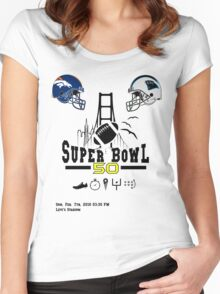 Super Bowl 50 design Women's Fitted Scoop T-Shirt