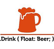 CSS jokes - Drink Beer! Photographic Print