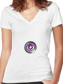 Pokemon Psychic Women's Fitted V-Neck T-Shirt