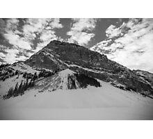 Fairview Mountain, Lake Louise, Alberta BW Photographic Print