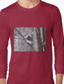 Junco in a Cherry Tree Long Sleeve T-Shirt