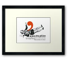 Shakespeare Murder Mystery Punctuation Puncture Framed Print