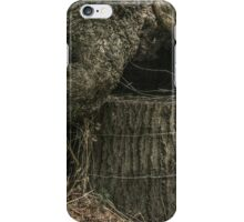 Stump Wrapped in Fence Wire iPhone Case/Skin