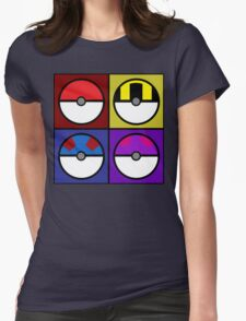 Pokeball minimalist Womens Fitted T-Shirt