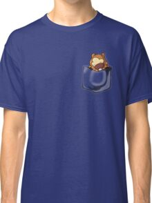 Bidoof Sleeping in Pocket Classic T-Shirt