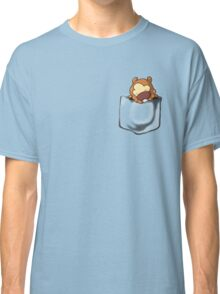 Bidoof Sleeping in Pocket Classic T-Shirt