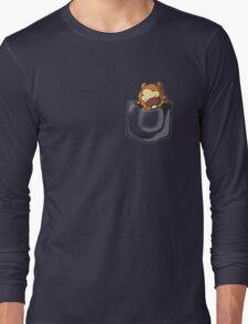 Bidoof Sleeping in Pocket Long Sleeve T-Shirt
