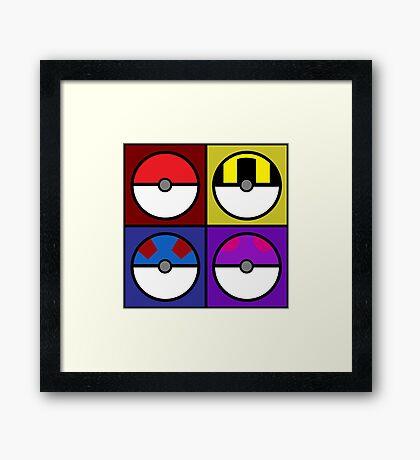 Pokeball minimalist Framed Print
