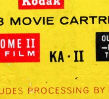 Super 8 - Includes Processing by Kodak Sticker