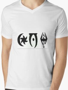 TES 3,4,5 Logos Mens V-Neck T-Shirt