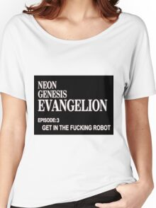 Neon Genesis Evangelion: Get In The Robot Women's Relaxed Fit T-Shirt