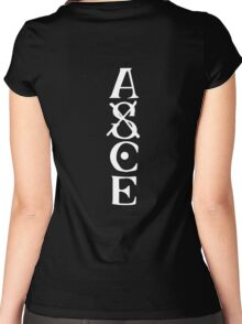 Portgas D Ace Tatto (Black) Women's Fitted Scoop T-Shirt